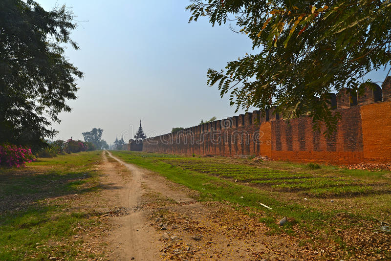 Mandalay Palace Myanmar stock images