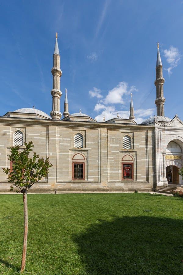 Outside widok Selimiye meczet Budował między 1569 i 1575 w mieście Edirne, Wschodni Thrace, Turke obraz royalty free