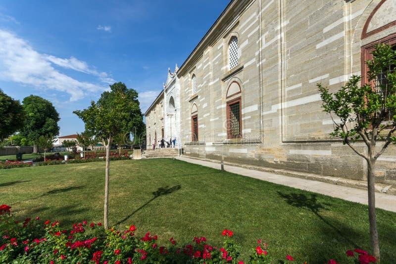 Outside widok Selimiye meczet Budował między 1569 i 1575 w mieście Edirne, Wschodni Thrace, Turke zdjęcia stock
