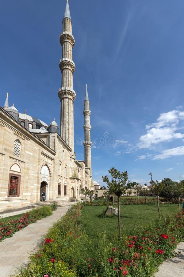 Outside widok Selimiye meczet Budował między 1569 i 1575 w mieście Edirne, Wschodni Thrace, Turke obrazy stock