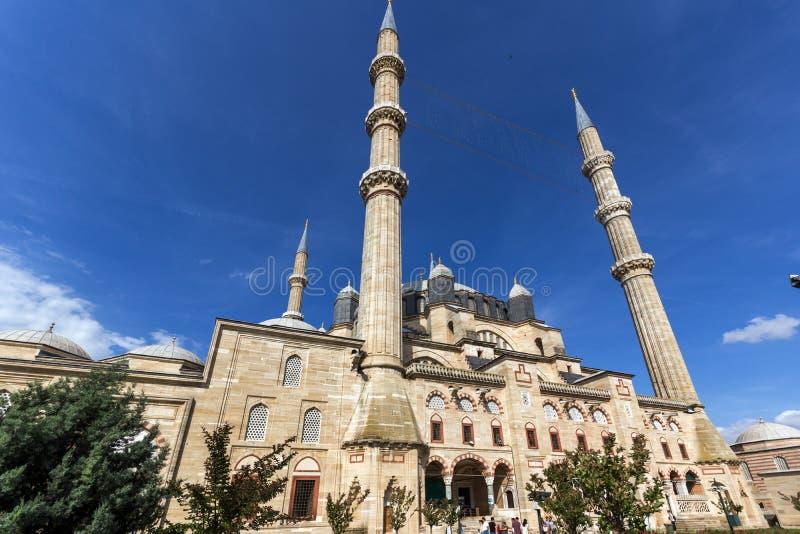 Outside widok Selimiye meczet Budował między 1569 i 1575 w mieście Edirne, Wschodni Thrace, Turke obrazy royalty free
