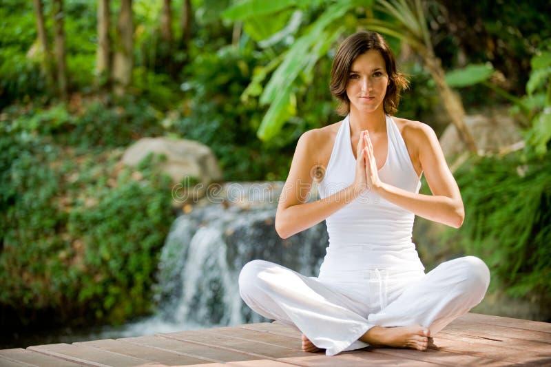 Outside Yoga stock photography