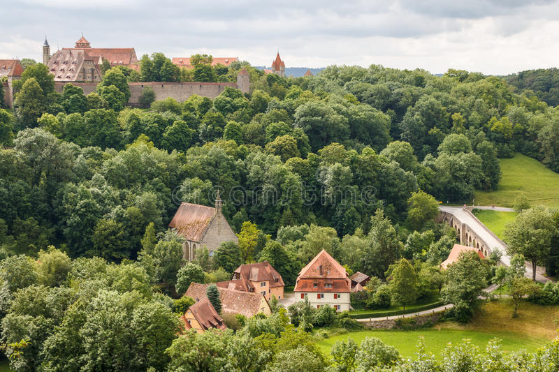 Outskirts of Rothenburg ob der Tauber. Germany stock photography