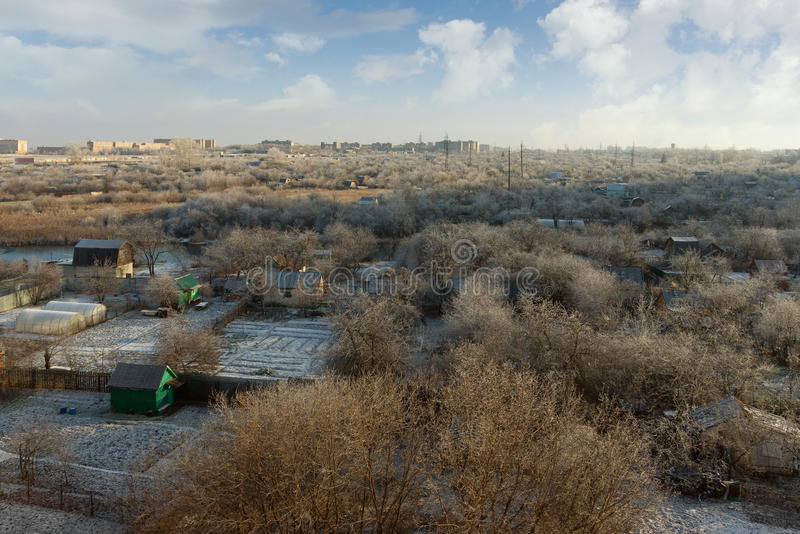 Outskirts of Ryazan city. Russia royalty free stock photography