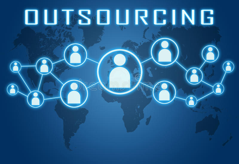 outsourcing royalty ilustracja