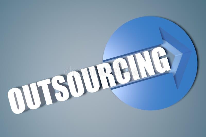 outsourcing ilustracja wektor