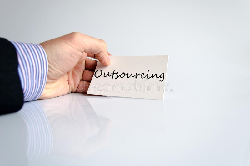Outsourcing Concept royalty free stock photography