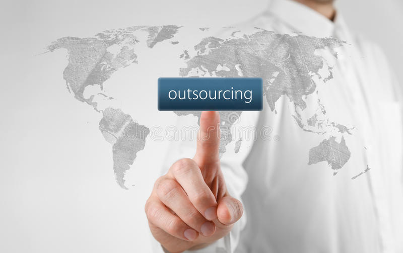 Download Outsourcing concept stock image. Image of white, click - 31549513