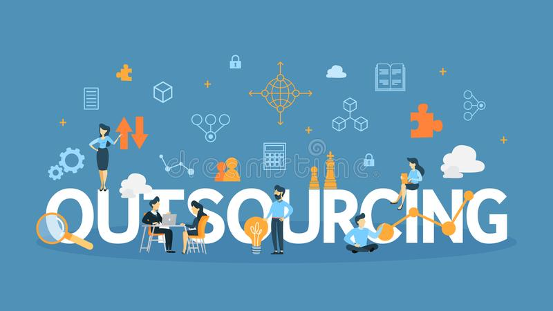 Outsourcing concept illustration. vector illustration