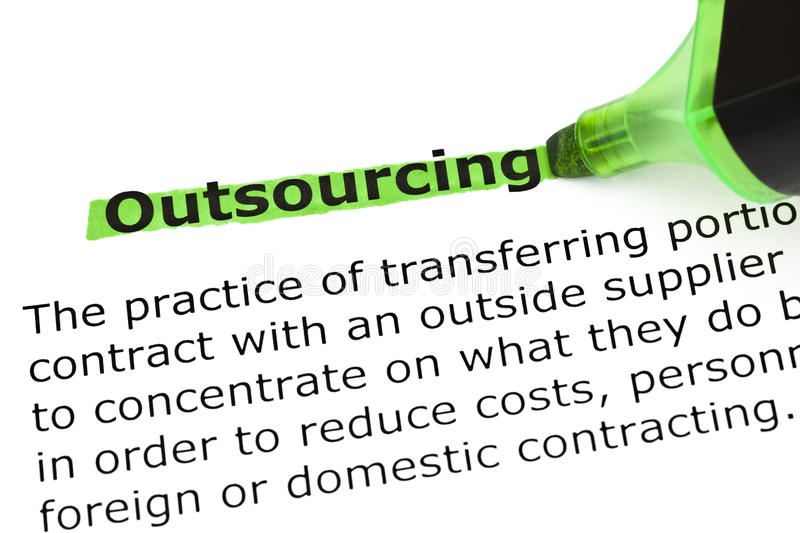 Outsourcing Definition royalty free stock image