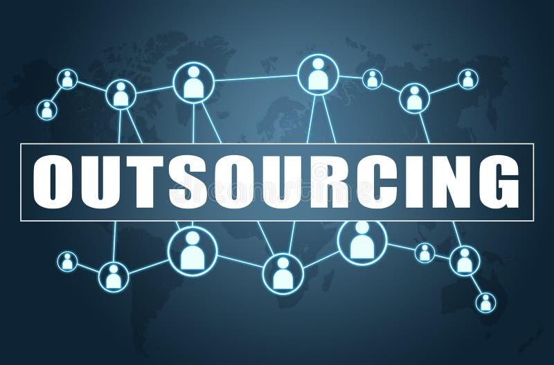 outsourcing illustrazione di stock