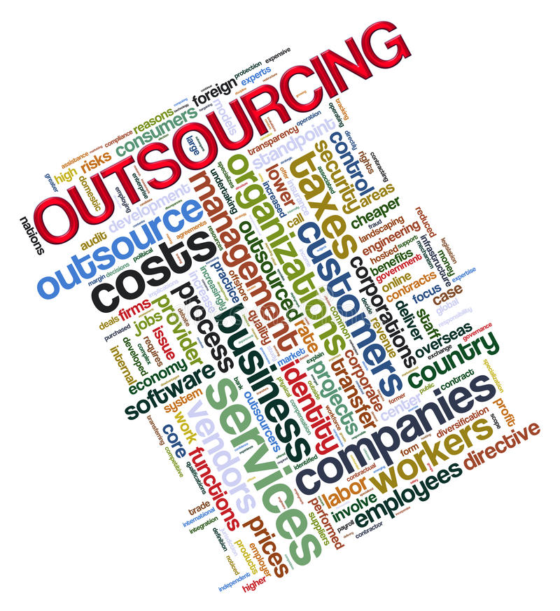 outsourcing etykietki ilustracja wektor