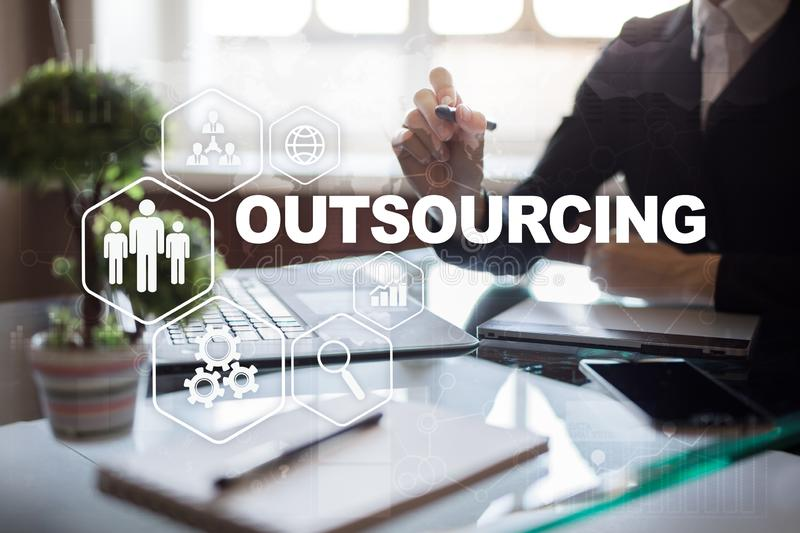 Outsourcing, hr and recruitment business strategy concept. Internet and modern technology. Outsourcing, hr and recruitment business strategy concept. Internet stock photography
