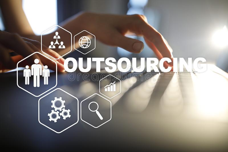 Outsourcing, hr and recruitment business strategy concept. Internet and modern technology. Outsourcing, hr and recruitment business strategy concept. Internet stock photos