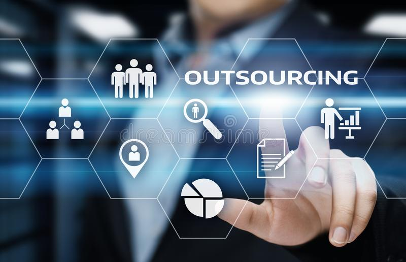 Outsourcing Human Resources Business Internet Technology Concept royalty free stock photography