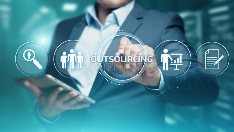 Outsourcing Human Resources Business Internet Technology Concept royalty free stock image