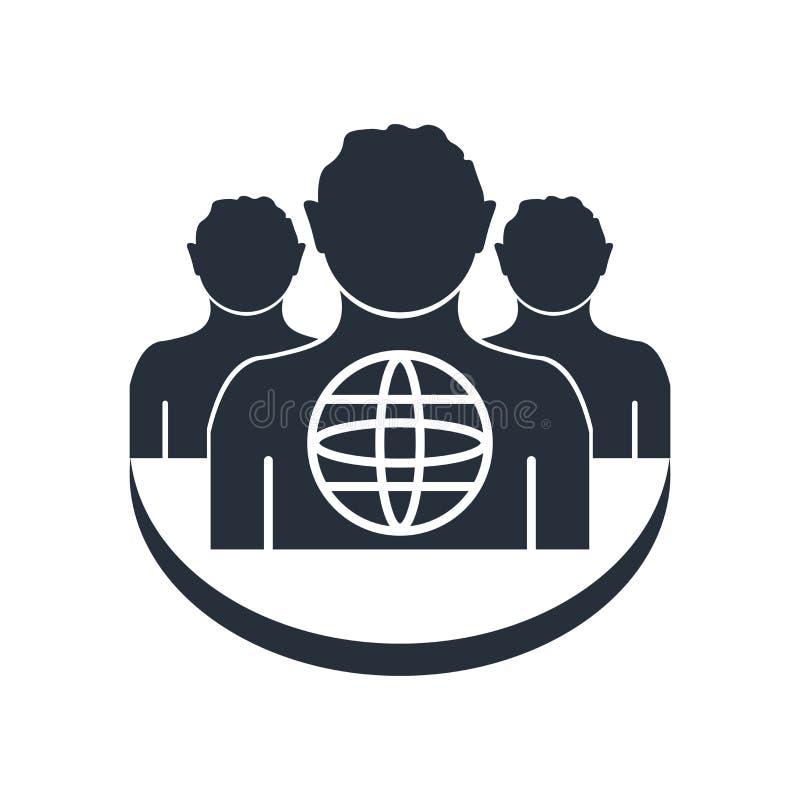 Outsourcing ikony wektoru znak i symbol odizolowywający na białym tle, outsourcingu logo pojęcie ilustracji