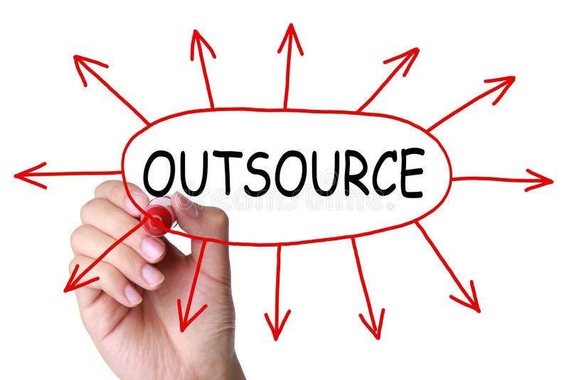 Outsourcing-Konzept lizenzfreies stockfoto