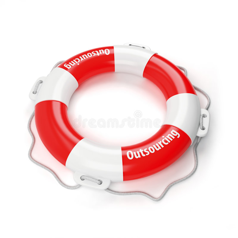 Free Outsourcing - Life Buoy For Business Royalty Free Stock Images - 8067059