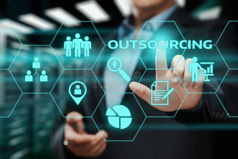 Outsourcing-Personalwesen-Geschäfts-Internet-Technologie-Konzept lizenzfreies stockfoto