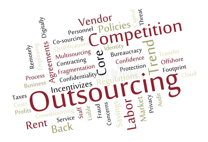 Download Outsourcing Word Cloud Royalty Free Stock Images - Image: 27754839