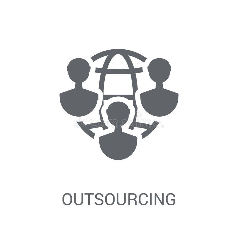 Outsourcingikone  lizenzfreie abbildung