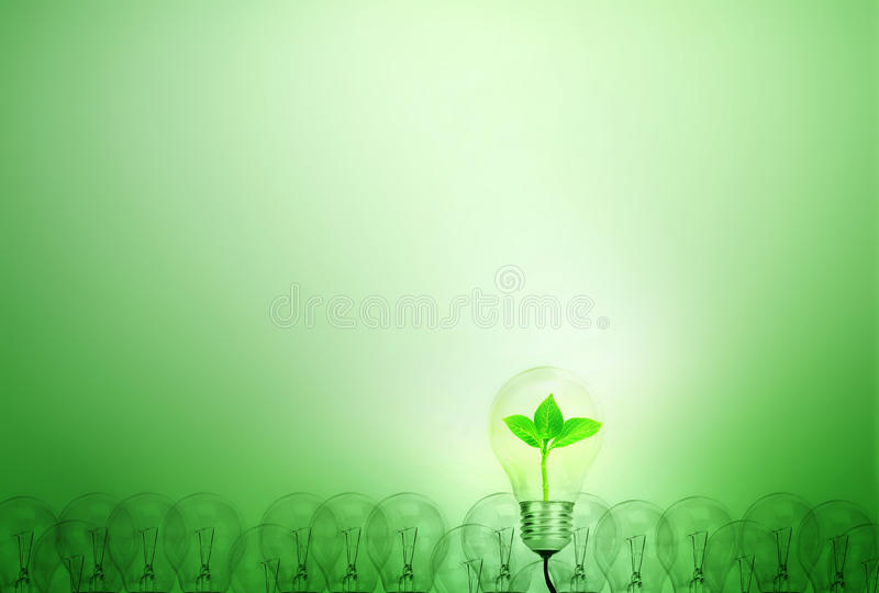 Outstanding creative idea for eco friendly background concept . stock illustration