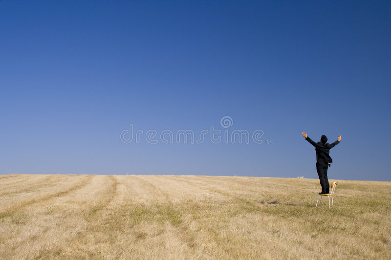 Outstretch businessman royalty free stock photos