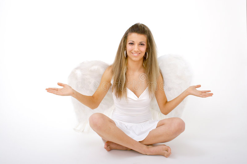 outstretched рукоятки ангела стоковая фотография rf