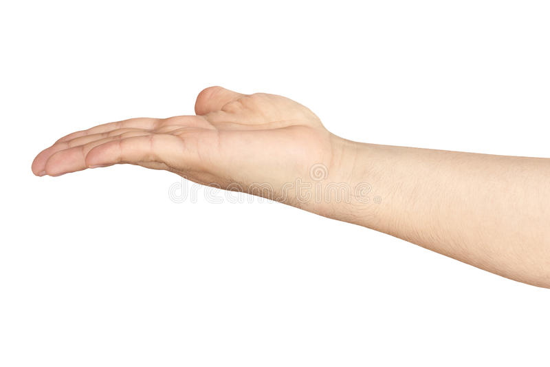 Outstretched Open Hand Arm Isolated stock photography