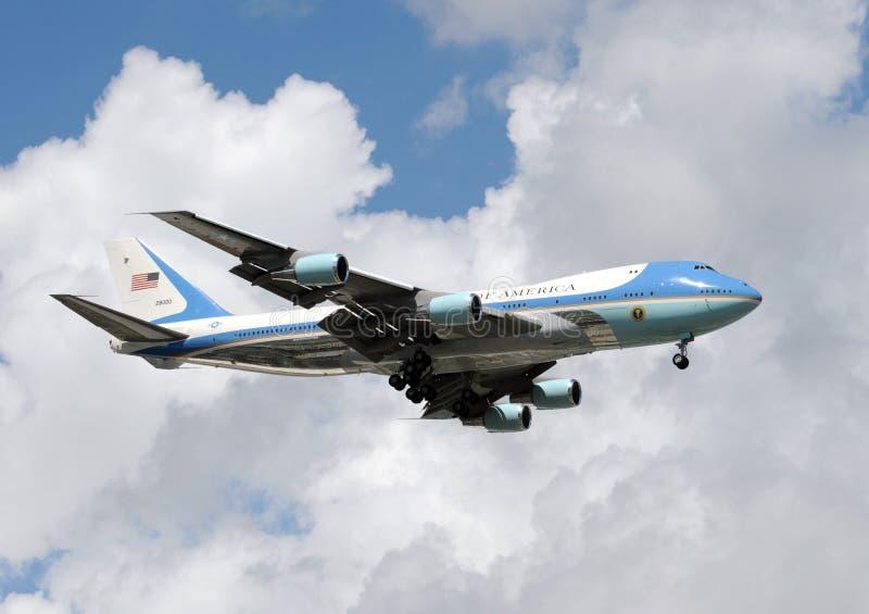 Outubro 10; 2008; MIAMI: Presidente Bush Air Force One imagens de stock