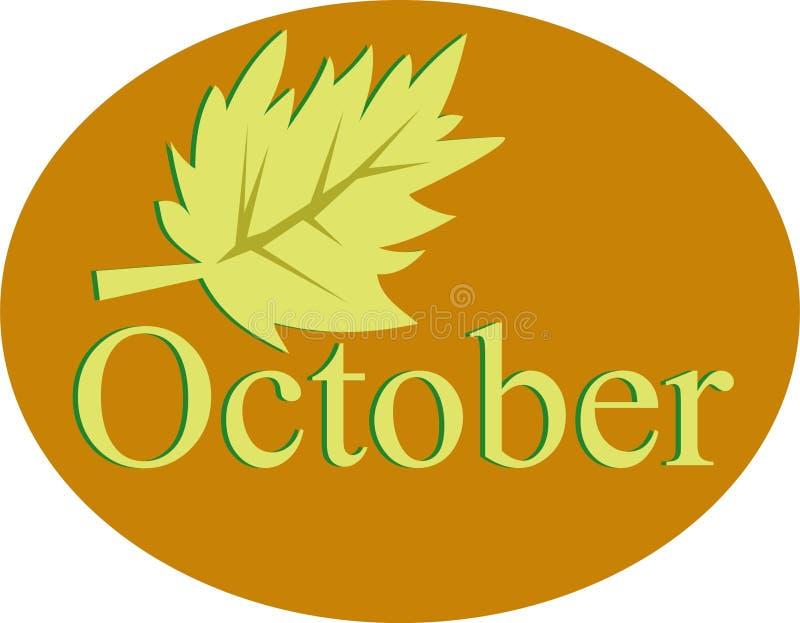Outubro ilustração royalty free