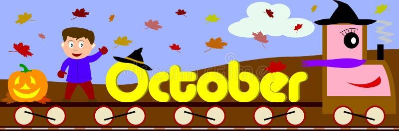 Outubro ilustração stock
