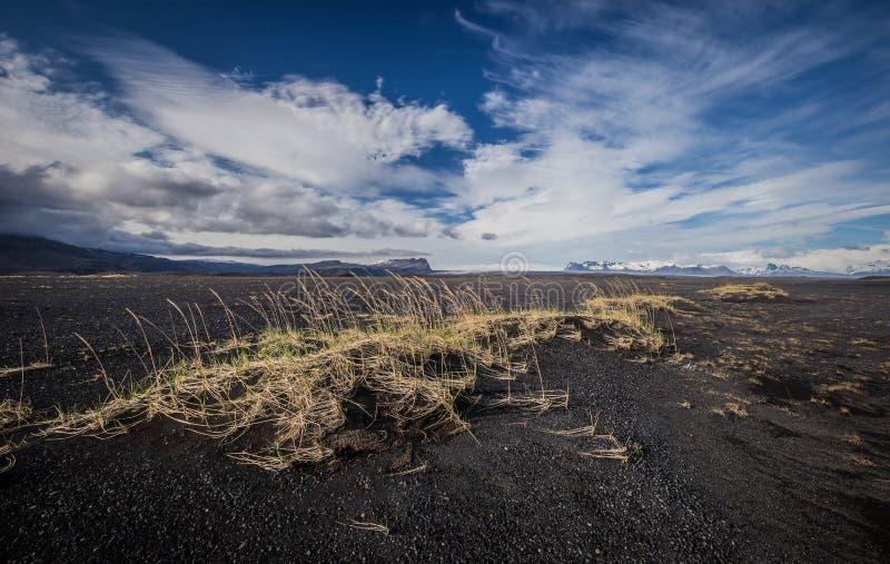 Outwash plain - Sandur, Skaftafell und Gletscher von Island lizenzfreies stockbild