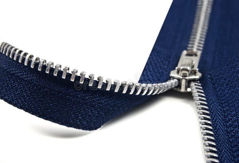 Ouverture bleu-foncé de tirette images stock