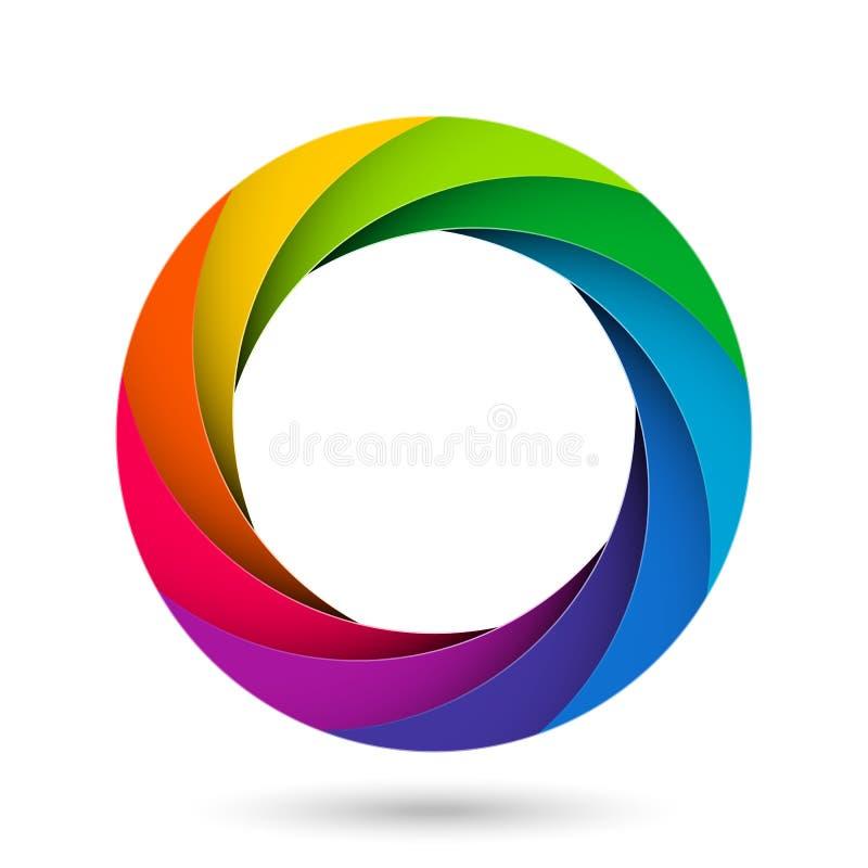 Ouverture colorée d'obturateur de caméra illustration stock