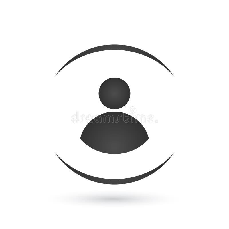 Ouverture d'utilisateur ou authentifier l'icône, vecteur Icône personnelle de protection Icône de protection de la vie privée d'I illustration libre de droits