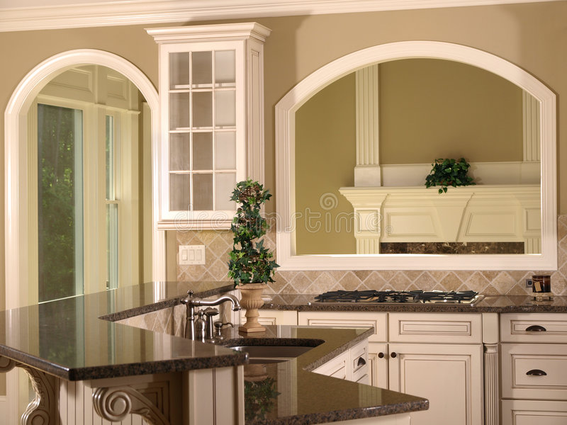 Ouverture de luxe de cuisine de maison mod le image stock image du d cor lifestyle 5348465 for Modele de maison de luxe