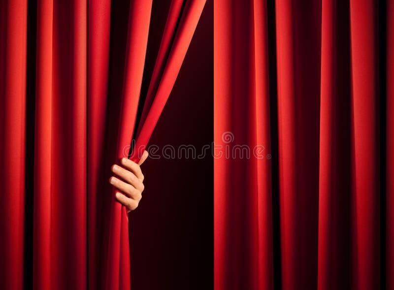 Ouverture du rideau photos libres de droits