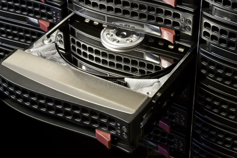 Ouvrez l'échange chaud HDD photo libre de droits