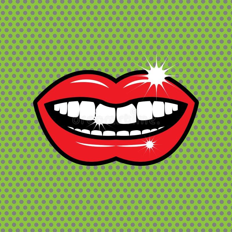 Ouvrez l'abrégé sur rouge lèvres illustration de vecteur
