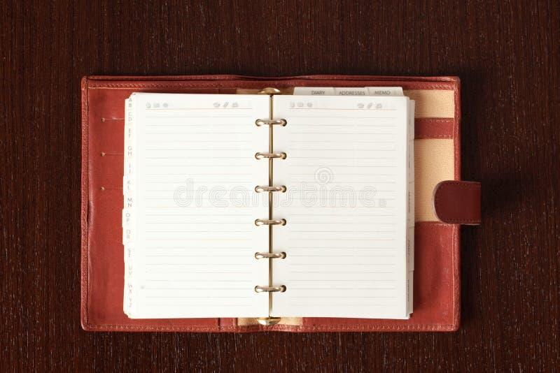 Ouvrez l'agenda photos libres de droits