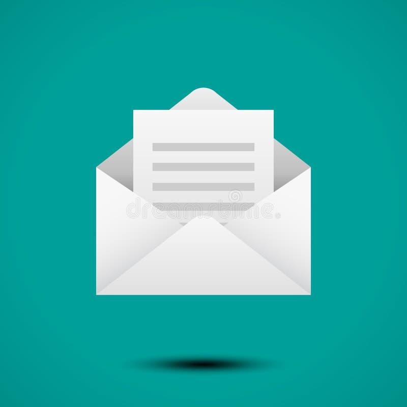 Ouvrez l'enveloppe pour la lettre illustration libre de droits