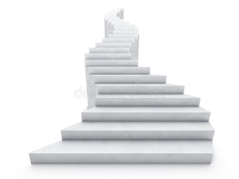 Ouvrez l'escalier illustration stock