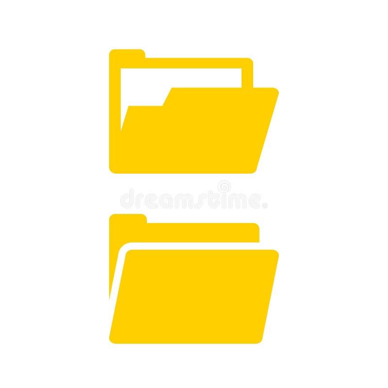 Ouvrez l'icône de vecteur de dossier d'ordinateur illustration libre de droits