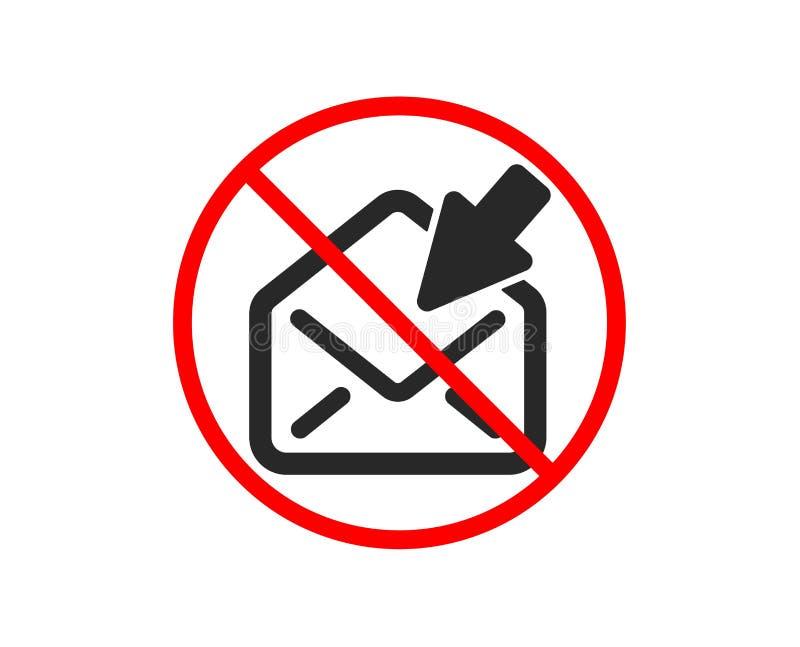 Ouvrez l'ic?ne de courrier Signe de correspondance de message de vue Vecteur illustration libre de droits