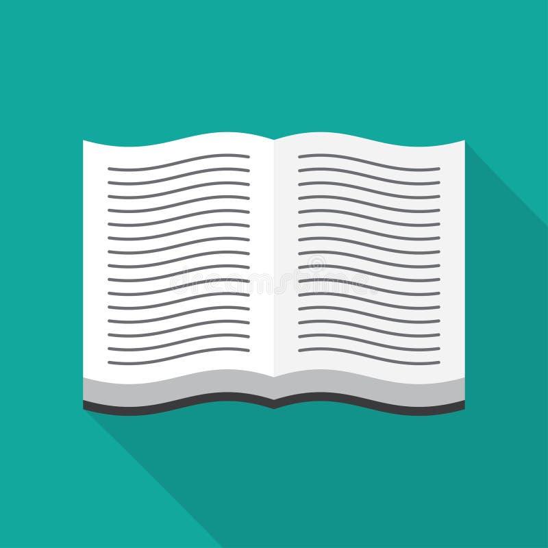 Ouvrez l'icône de livre illustration libre de droits
