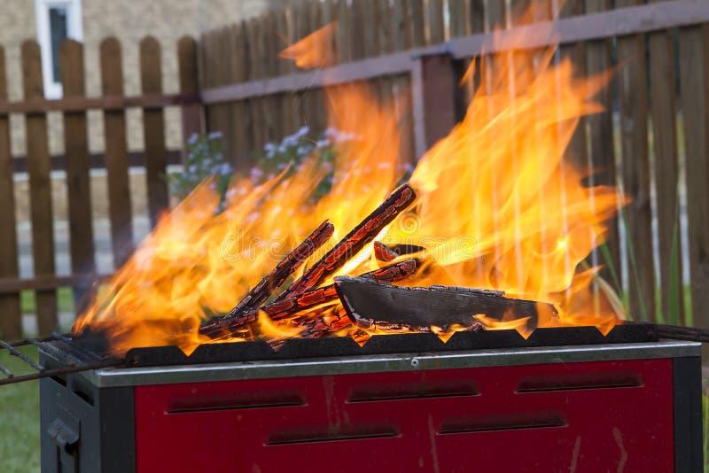 Ouvrez l'incendie photographie stock