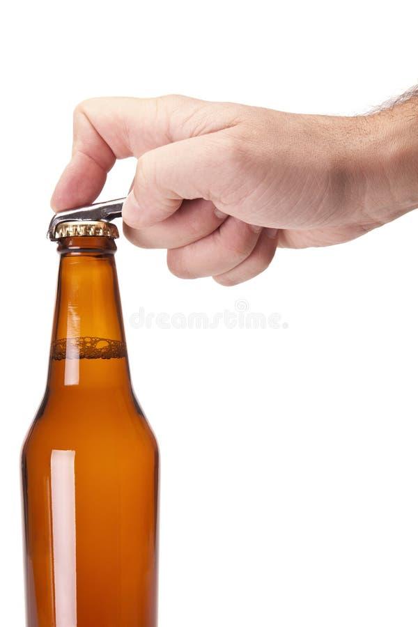 Ouvrez la bière photographie stock