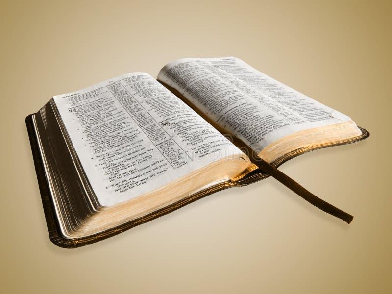 Ouvrez la bible photos libres de droits